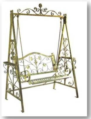 Wrought Iron Garden Swing